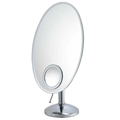 KIMBALL & YOUNG Oval Vanity Mirror with Inset Brushed Nickel 80170