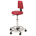 PIBBS Sweetline Stylist Seating Grillo Round Seat with Backrest  765
