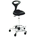 PIBBS Sweetline Stylist Seating Pouff with Backrest Black  769