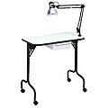 PIBBS Manicure Table Fold Legs with Lamp  974