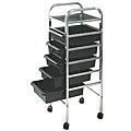 PIBBS 5 Shelf Utility Tray Mica Top Black  907