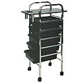 PIBBS 5 Shelf Utility Tray Mica Top Black with Holder  907A