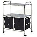 PIBBS Work Cart with 4 Black Storage Drawers  D4B