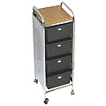 PIBBS 4 Tier Cart with Metal Side Panels with ART69 Topper  D34