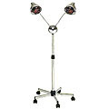 PIBBS 2 Headed Lamp with Deluxe Base Chrome Arms  DL957