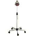 PIBBS 1 Headed Lamp with Deluxe Base Chrome Arms  SL542