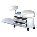 PIBBS Pedicare Unit White Laminate Footbath Optional  DG / 102
