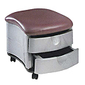 PIBBS Two Shelf Ottoman Grey Metallic Base  2032