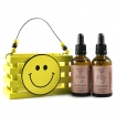 NADYA Pure Organic Argan Oil with Wooden Smile Face Crate Gift Set