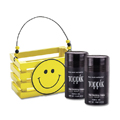 TOPPIK Hair Fiber BLACK with Wooden Smile Face Crate Gift Set