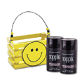 TOPPIK Hair Fiber DARK BROWN with Wooden Smile Face Crate Gift Set