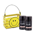 TOPPIK Hair Fiber LIGHT BROWN with Wooden Smile Face Crate Gift Set