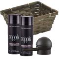 TOPPIK Hair Building Fiber Economy Size DARK BROWN w / Spray Applicator Gift Basket