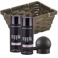 TOPPIK Hair Building Fiber Economy Size GRAY w / Spray Applicator Gift Basket