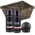 TOPPIK Hair Building Fiber Economy Size LIGHT BROWN w / Spray Applicator Gift Basket