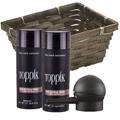 TOPPIK Hair Building Fiber Economy Size MEDIUM BROWN w / Spray Applicator Gift Basket