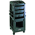 KAYLINE  Rollabout  With Compartmented Top Organizer in  Black G1C