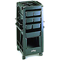 KAYLINE  Lockable Rollabout  With Compartmented Top Organizer  in Black G1-CP