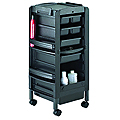 KAYLINE   Lockable Miss Liberty in Black With 4 Trays  L34-P