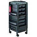 KAYLINE   Lockable Miss Liberty in Black With 6 Trays  L36-P