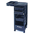 KAYLINE   The Affordable Rollabout Open Front and Back in Black With Built- in Organizer Top KD1-C