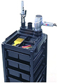 KAYLINE   The Affordable Rollabout Open Front and Back in Black With Built- in Organizer and Appliance Holder Top  KD1-H