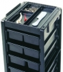 KAYLINE the Affordable Rollabout Enclosed on 3 Sides in Black with Built – in Organizer Top  KD2-C