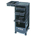 KAYLINE   the Affordable Rollabout Complete with Lockable Door in Black with Built � in Organizer Top  KD3-C