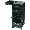 KAYLINE   the Affordable Rollabout Complete with Lockable Door in Black with Built � in Organizer Top Plus Built - in Appliance Holder  KD3-H