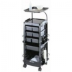 KAYLINE SmartKart Chemical Service Station in Black with Disappearing Lockable Door  SM100-P