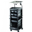 KAYLINE SmartKart Chemical Service Station in Black with Disappearing Lockable Door  SM200-P