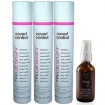 TRIDESIGN Covert Control Holding Hair Spray 10.5oz / 298g Pack of 3 with Argan Oil Hair Serum 2 oz by NADYA