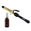 HOT TOOLS Jumbo 1 inch Professional Curling Iron with Multi Heat Control 1181R with Argan Oil Hair Serum 2 oz by NADYA