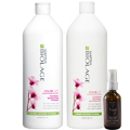 MATRIX Biolage Color Care Therapie Shampoo and Conditioner Duo 33.8 oz w / Argan Oil Leave-In Serum 2 oz