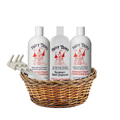 FAIRY TALES Rosemary Repel Shampoo Conditioner Conditioning Spray Liter Trio w/ Bottle Pumps Gift Basket