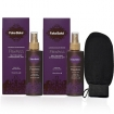 FAKE BAKE Flawless Self Tan Liquid Duo Pack with GETI BEAUTY Exfoliating Scrub Mitt Black