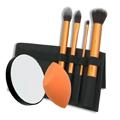 REAL TECHNIQUES Make-Up Applicators Set w / ZADRO 10X Close-Up Mirror
