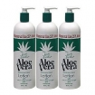 TRIPLE LANOLIN Aloe Vera Hand and Body Lotion 20oz/590ml Pack of 3